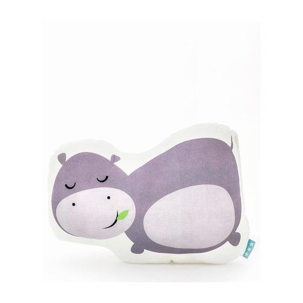Bavlnený vankúšik Mr. Fox Hippo 40×30cm