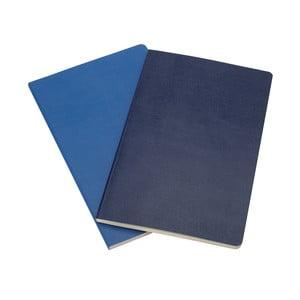 Sada 2 notesov Moleskine v Antverpách Blue, linkované 9x14 cm