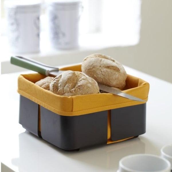Košík na pečivo Roma, čierna/oranžová