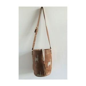 Kožená kabelka Camello Brown