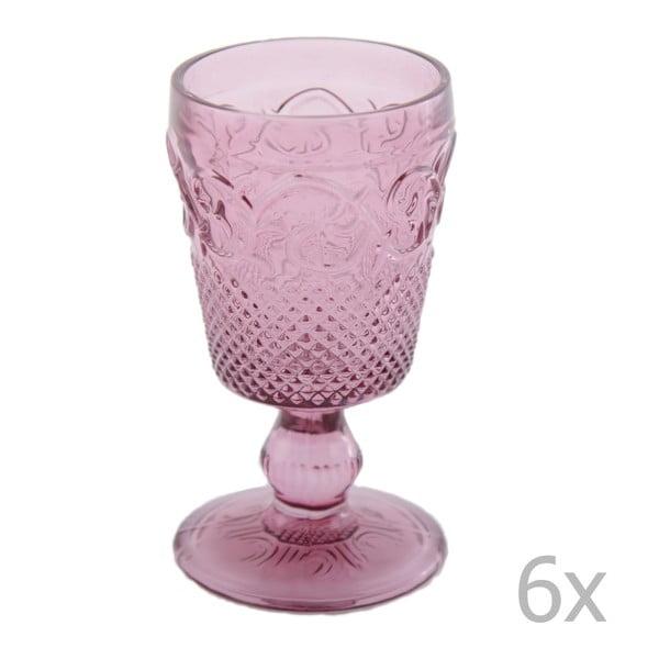 Sada 6 ružových pohárov Creative Tops Katie Alice Embossed