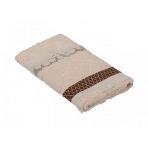 Hnedý bavlnený uterák Bella Maison Taraxacum, 50×90 cm