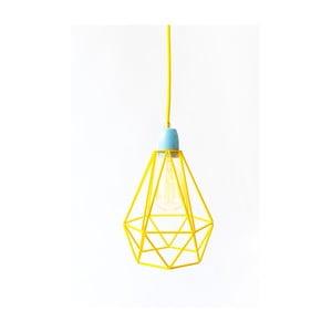 Svietidlo so žltým tienidlom a žltým káblom Filament Style Diamond # 1