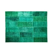 Vlnený koberec Allmode Green, 150x80 cm