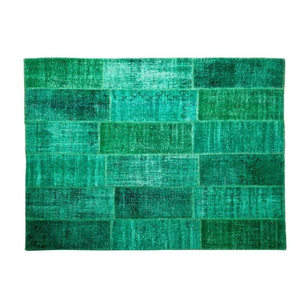 Vlnený koberec Allmode Green, 180x120 cm