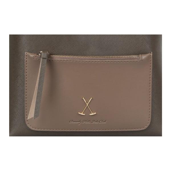 Sivohnedý batoh z eko kože Beverly Hills Polo Club Fran