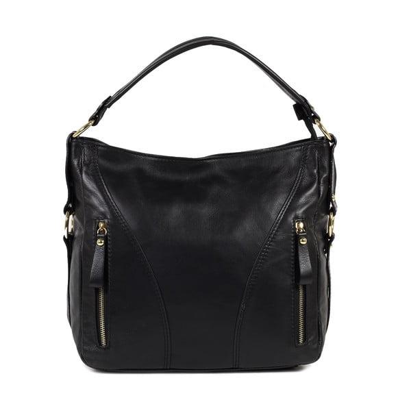 Kožená kabelka Linda, čierna