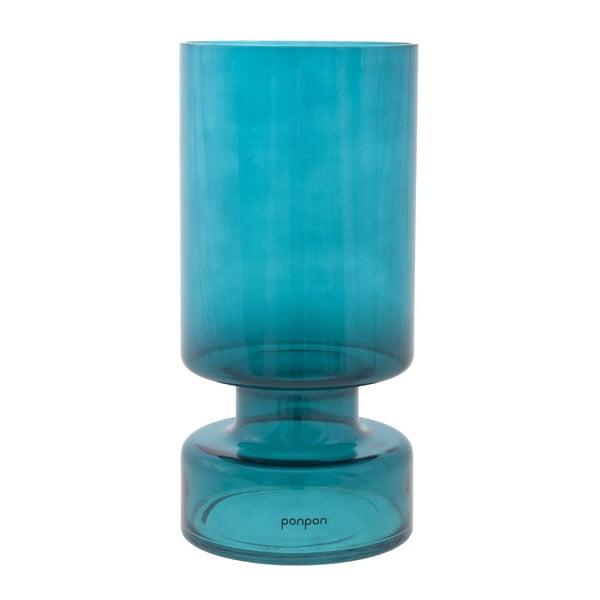 Váza/svietnik Delhi 31 cm, tyrkysová