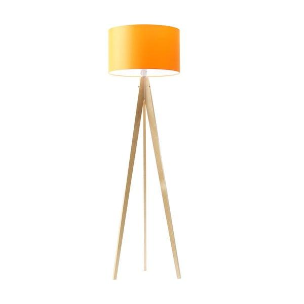 Stojacia lampa Artist Orange/Birch, 150x42 cm