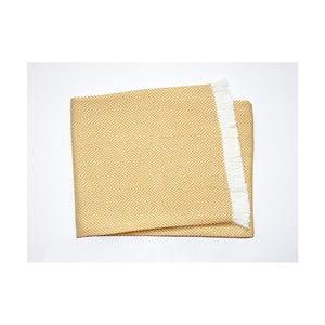 Žltý pléd s podielom bavlny Euromant Sky, 140×250 cm