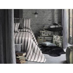 Sada prikrývky na posteľ a obliečok na vankúš Apolena Luxury, sivá