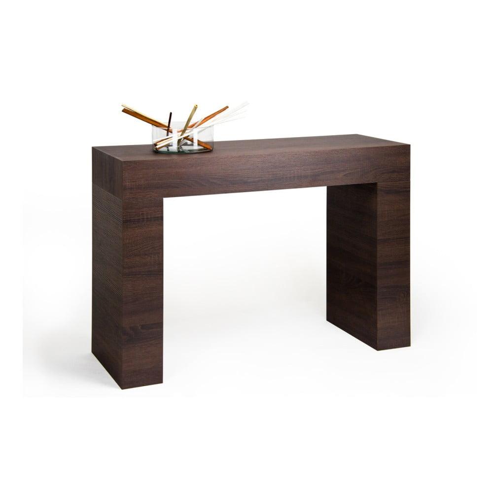 Konzolový stolík v dekore tmavého duba MobiliFiver Evolution