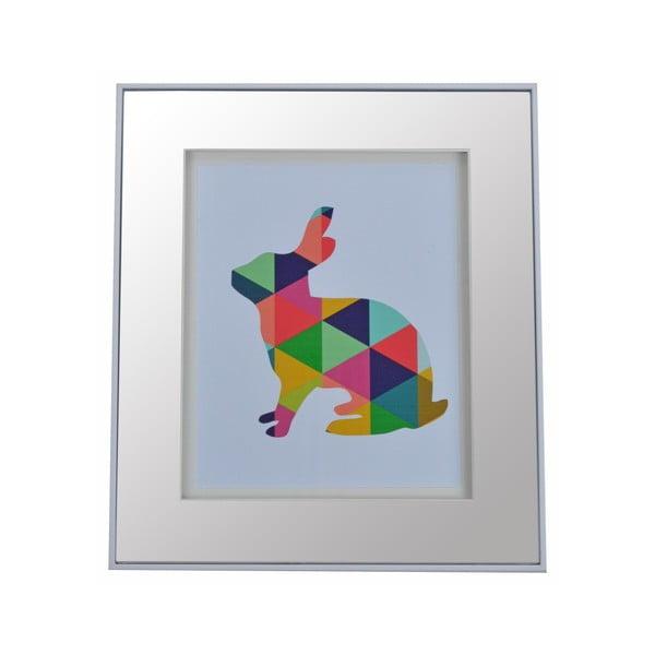 Zrkadlo s farebným motívom Rabbit, 30x35 cm
