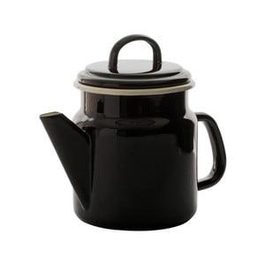 Čierna smaltovaná kanvica na kávu Dexam, 1,2 l