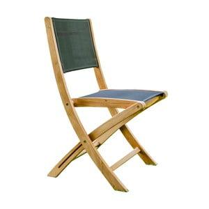 Sada 2 skladacích záhradných stoličiek z teakového dreva Ezeis Navy