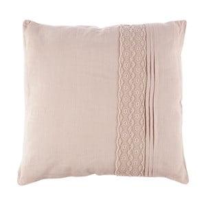 Vankúš Dente Pale Pink, 40x40 cm