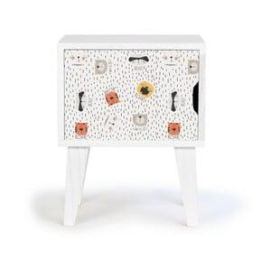 Detský drevený nočný stolík Little Nice Things Animals