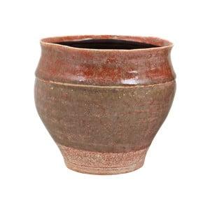 Ružový kvetináč z keramiky Strömshaga Nolhaga, Ø20 cm