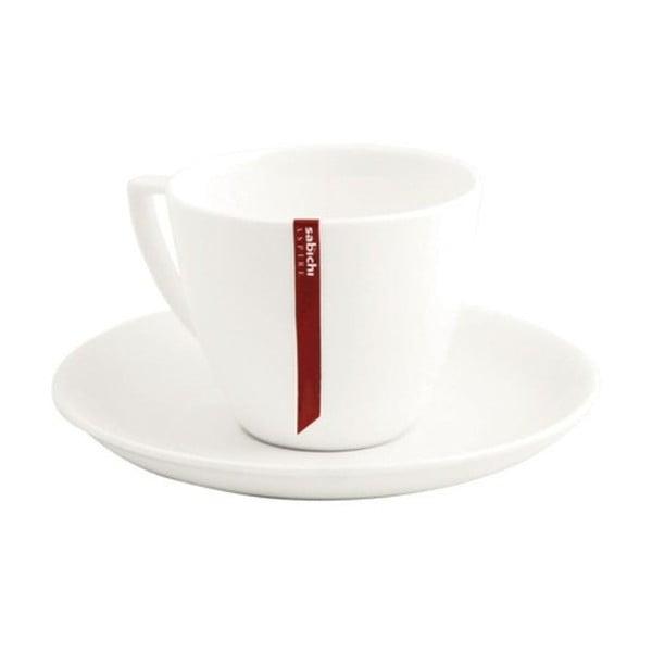Šálka na espresso s tanierikom z kostného porcelánu Sabichi Bone China