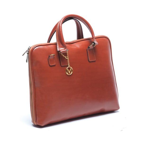 Kožená kabelka Mangotti 375, koňak