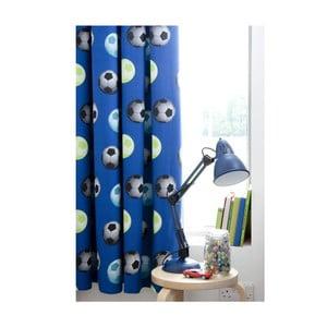 Sada 2 modrých závesov Catherine Lansfield Football, 168 x 183 cm