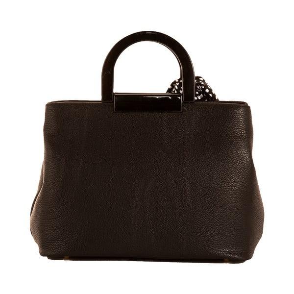 Tmavohnedá kabelka z pravej kože Andrea Cardone Angelo