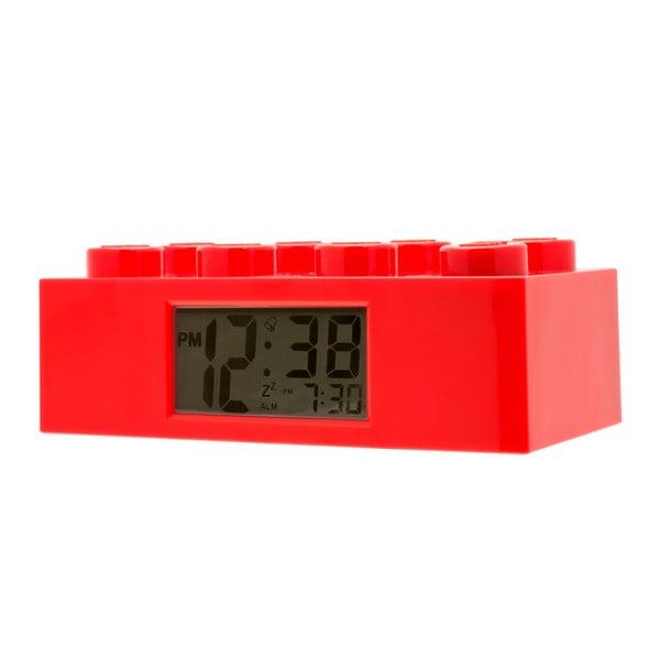 Červené hodiny s budíkom LEGO® Brick