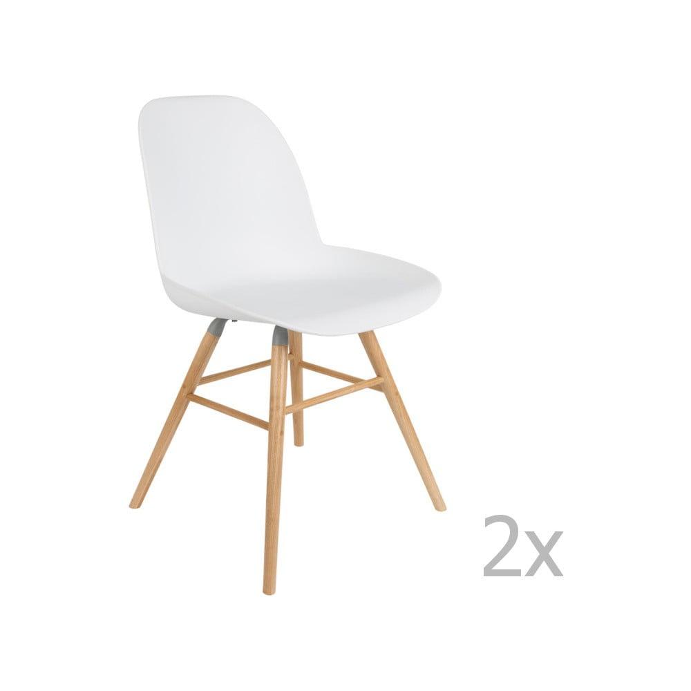 Sada 2 bielych stoličiek Zuiver Albert Kuip