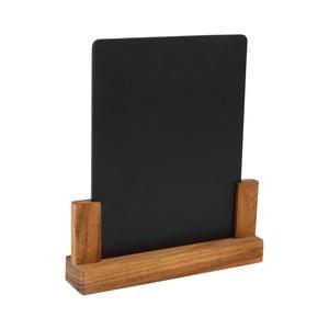 Tabuľka so stojanom z akáciového dreva T&GWoodware Rustic, výška24 cm