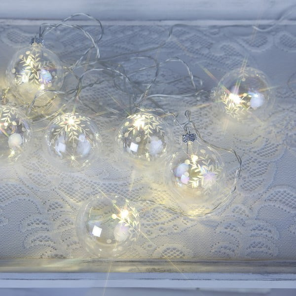 Svietiaca reťaz Best Season Glass Beads Clear