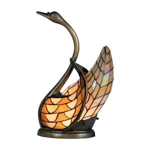 Tiffany stolná lampa Swan