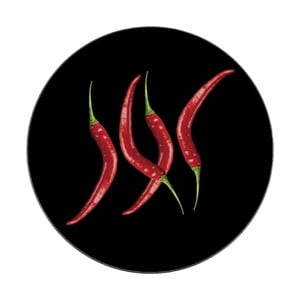 Sklenená podložka pod hrniec Wenko Hot Pepper