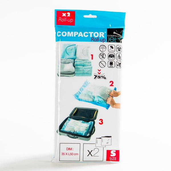 Vákuové obaly na oblečenie Compactor Blue S, 2 ks