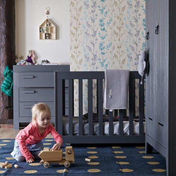 Detská postieľka New Life, oceľovo sivá