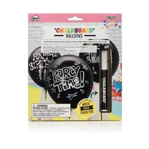 Set 20 popisovateľných balónikov a kriedového pera npw™ Chalkboard Balloons