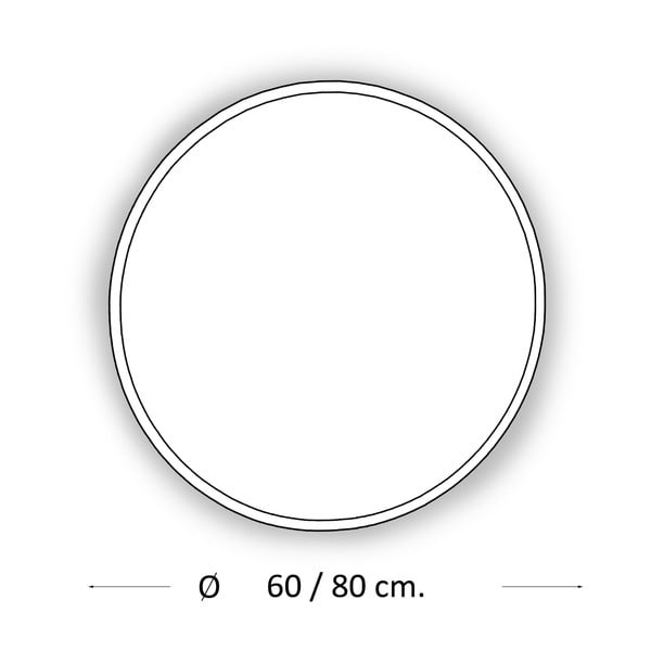 Zrkadlo s LED osvetlením Metro, Ø80 cm
