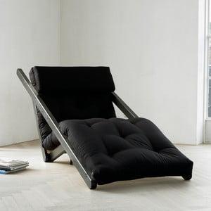 Leňoška Karup Figo, Wenge/Black, 70 cm