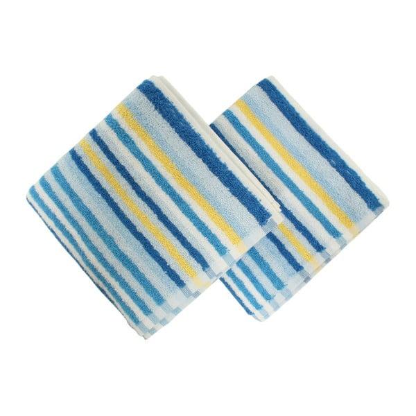 Sada 2 uterákov Cizgi Blue, 40x80cm