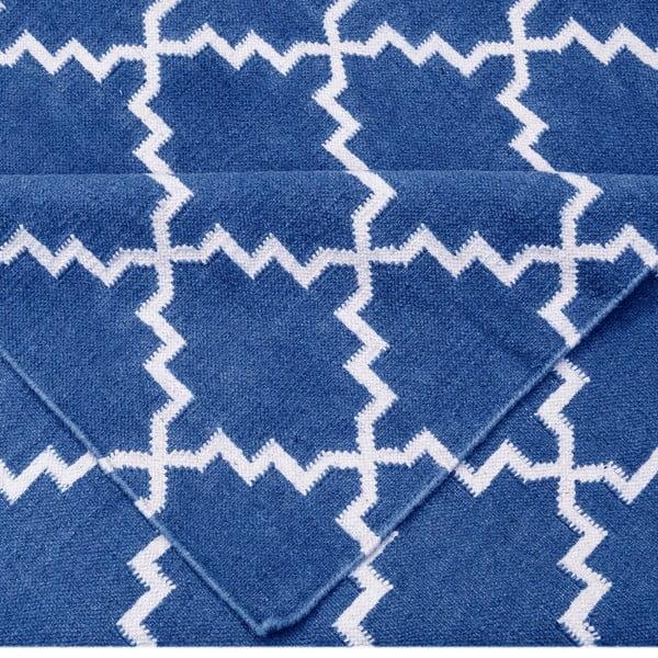 Tmavomodrý vlnený koberec Bakero Eugenie, 240 x 155 cm