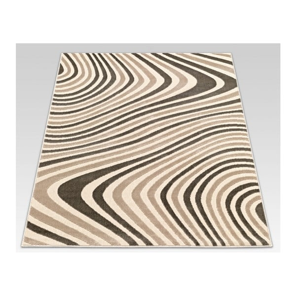 Koberec Webtappeti Reflex Brown Stripes, 140x200cm