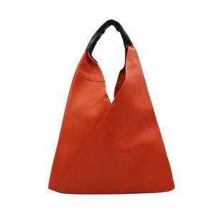 Tmavooranžová kabelka z pravej kože Andrea Cardone Karula