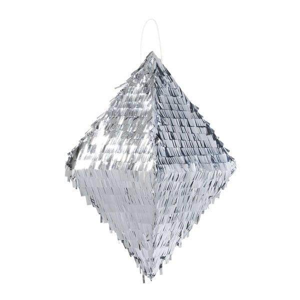 Papierová dekorácia Metalic Silver Pinata