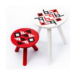 Sada 2 ručne maľovaných stoličiek Bran