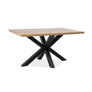 Jedálenský stôl s čiernou oceľovou konštrukciou Signal Cross, dĺžka 150cm