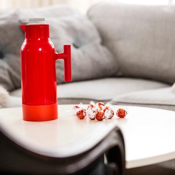 Červená termokanvica na kávu Sagaform Accent