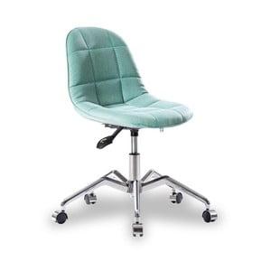 Tyrkysová stolička na kolieskach Modern Chair Grey