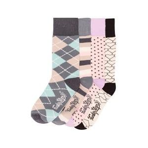 Sada 4 párov farebných ponožiek Funky Steps Rainy Day, veľ. 35-39