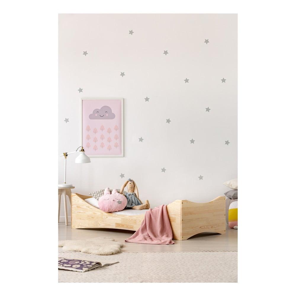 Detská posteľ z borovicového dreva Adeko Mila BOX 3, 70 x 140 cm