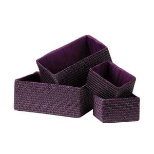 Set 4 úložných košov Purple
