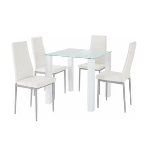 Sada stola a 4 bielych stoličiek Støraa Nara